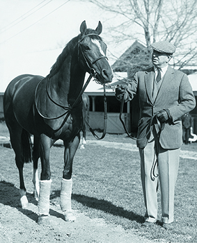 Luro with Northern Dancer before Blue Grass S.
