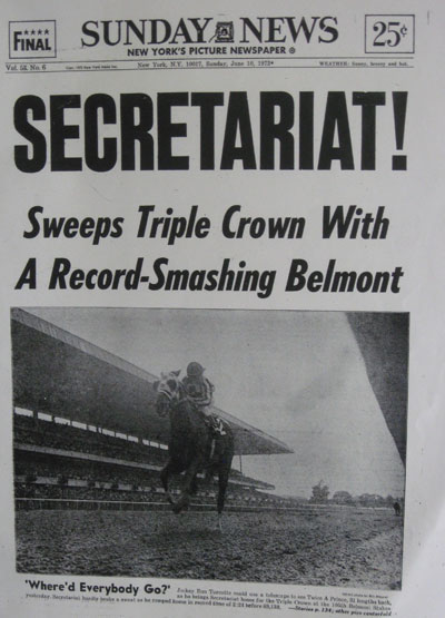 Image result for secretariat wins the triple crown in horse racing