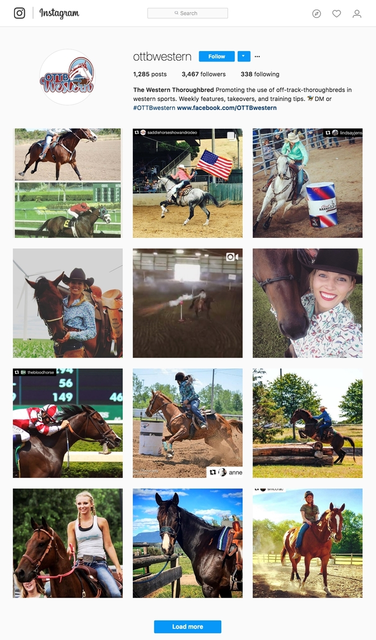 OTTB western instagram account