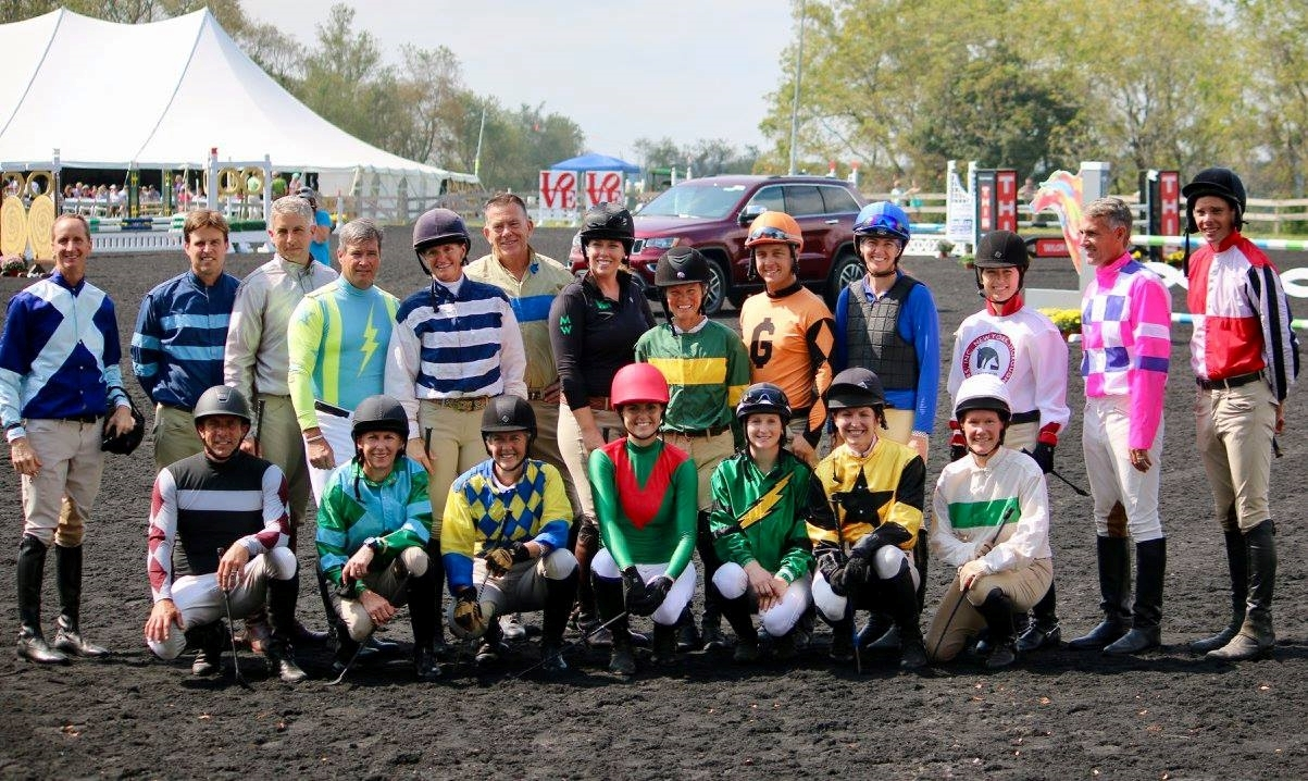 Participants in the inaugural real rider cup