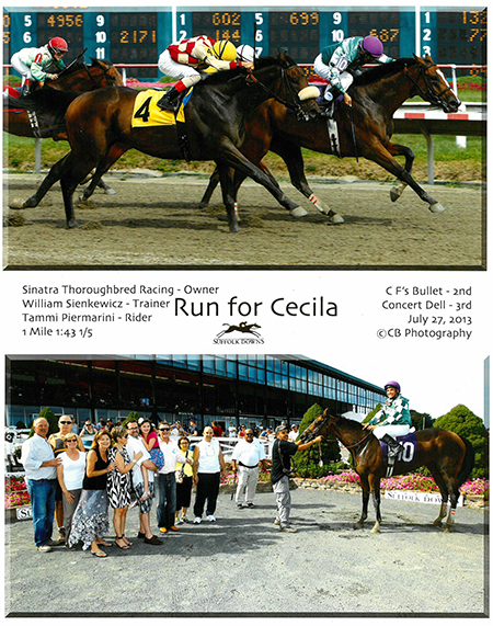 Run for Cecila in winner's circle