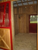The stall should be prepared for safe foaling.